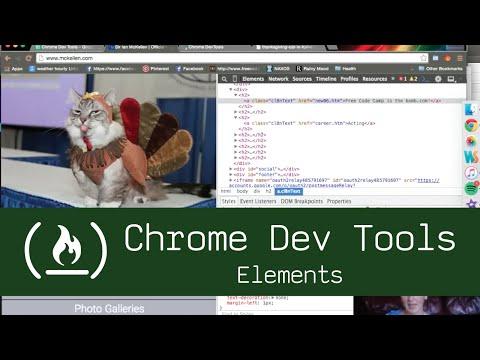 Chrome Dev Tools: Elements Tab
