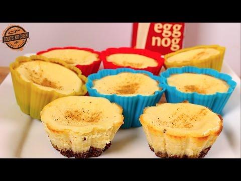 Eggnog Cheesecakes - Cupcakes - Christmas dessert recipe