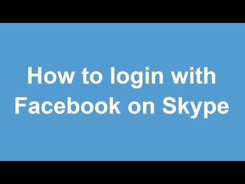 How to login with Facebook on Skype