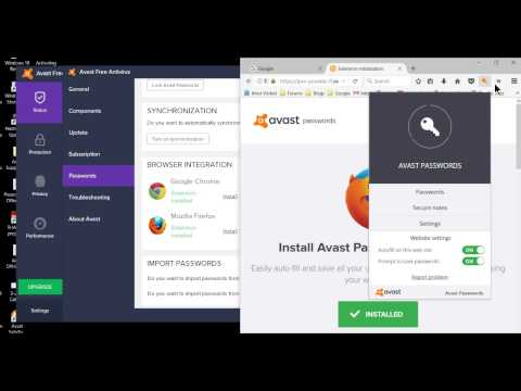 Activating Avast Password Manager