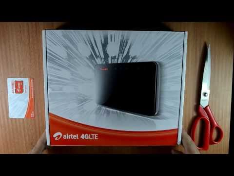 Airtel 4G LTE Wifi Router ZTE LTE CPE MF29 Unboxing and Speed review