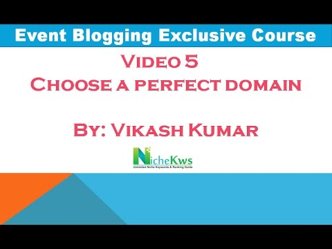 How to choose a domain for Event Blogging [Hindi]