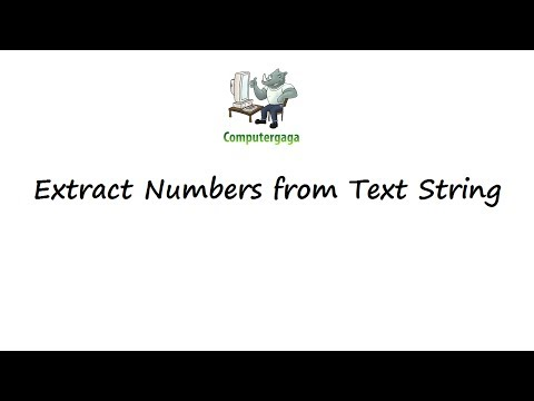 Extract Number from Text String using Excel VBA