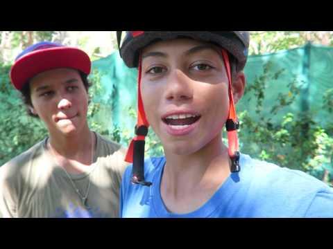 Building A Little Bike Jump & Practice a Little Spanish