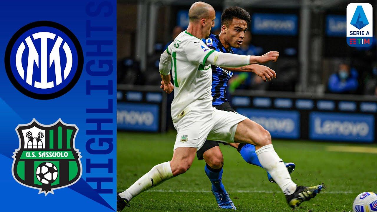 Inter 2-1 Sassuolo   Martínez Secures Victory for Inter   Serie A TIM