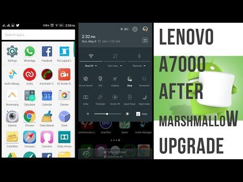 Lenovo A7000 Marshmallow Update