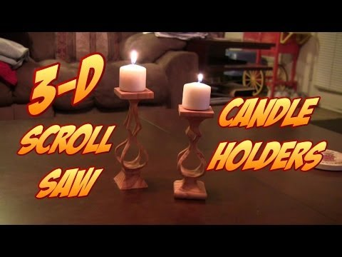 Make these COOL 3-D Scroll Saw Candle Holders FREE PATTERN LINK