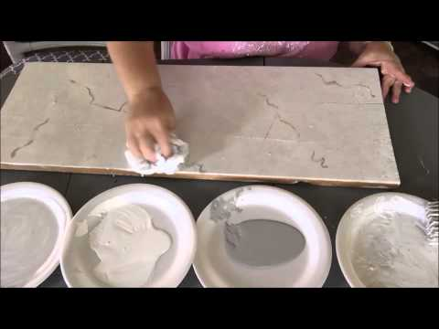 How To Paint Faux Carrera Marble~Super Easy!
