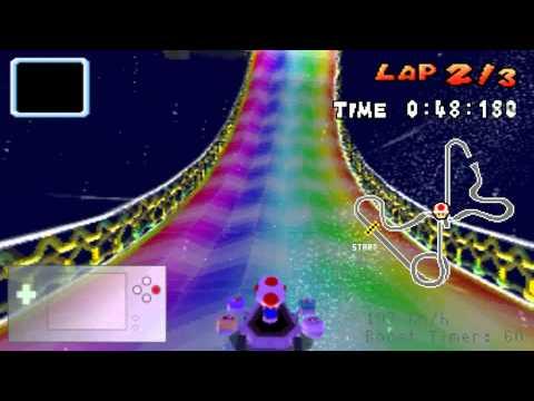 Mario Kart DS HD Recording Test - Rainbow Road World Record