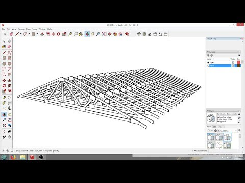 Roof Truss Help for Viewer in SketchUp