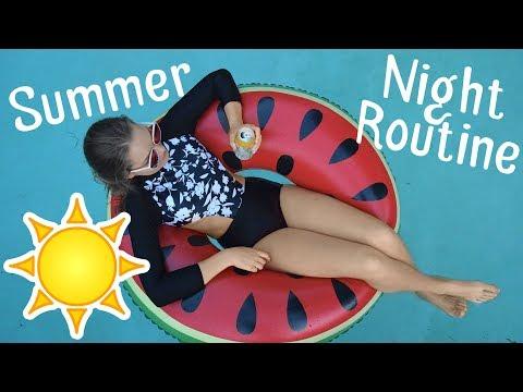 Aesthetic Summer Night Routine 2018
