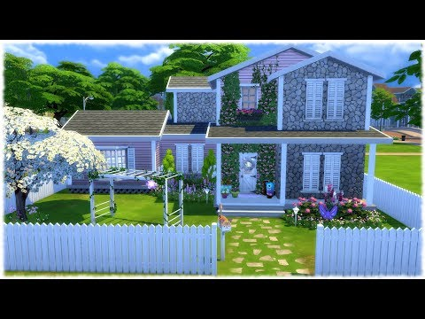 The Sims 4: Speed Build // GIRLY SINGLE MOM HOUSE // NO CC