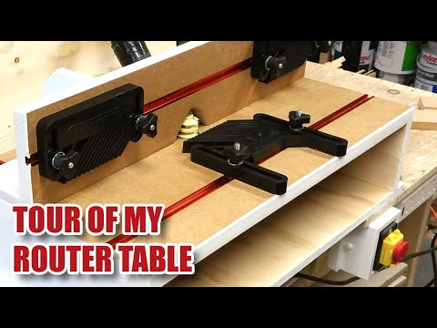 Benchtop ROUTER TABLE TOUR! Triton Router (TRA001 / TRB001) in a Router Table [90]