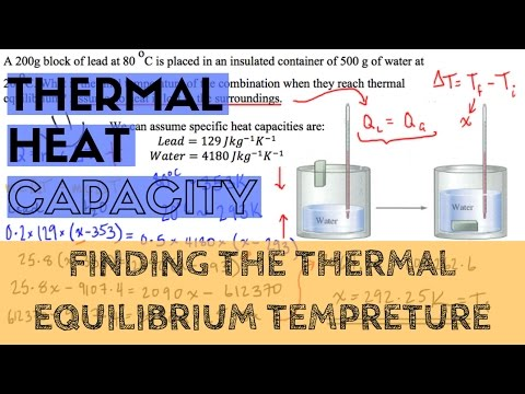 Specific Heat Capacity - Finding the Thermal Equilibrium Tempreture