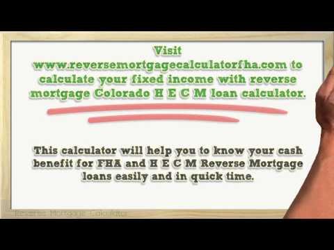Reverse Mortgage Colorado HECM Loan Calculator