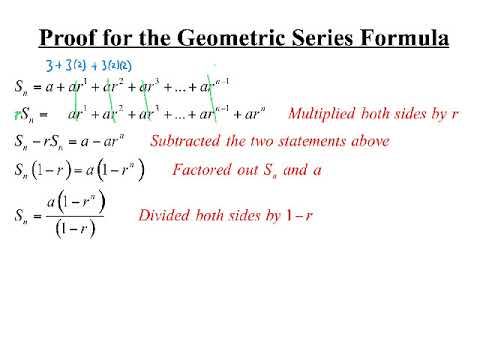 Proof for the Geometric Series Formula
