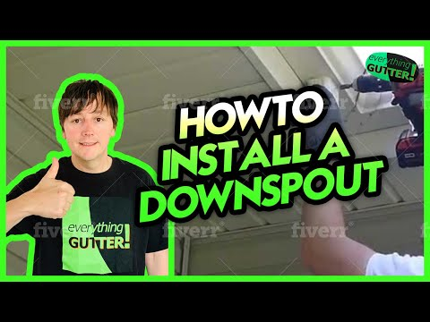 How to Install a Downspout