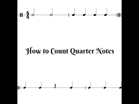 How to Count Quarter Notes - Animated Rhythm Lesson