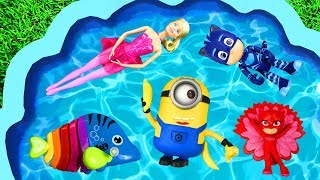 Learn Characters with Pj Masks, Super Heroes, Paw Patrol, Barbie, Minions and Animals