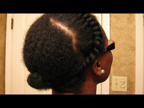 Twist and Tuck Protective Style Awkward Stage - Natural Hair