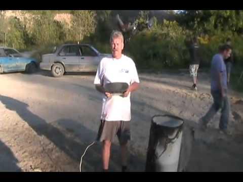 #1429 Airbag water and apple explosion [Davidsfarm]