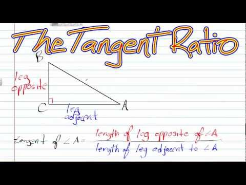 The Tanget Ratio | Geometry How To Help