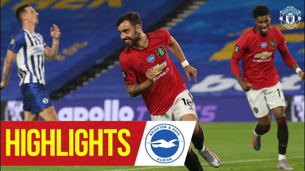 Fernandes & Greenwood strike in Brighton win | Brighton 0-3 Manchester United | Highlights