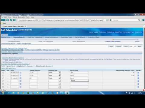 Create IExpenses in oracle R12 apps