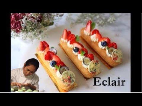 Eclair / How to make Choux Paste / Eclair / การทำแป้งชูว์ การทำเอแคร์ / Nattharinkitchen