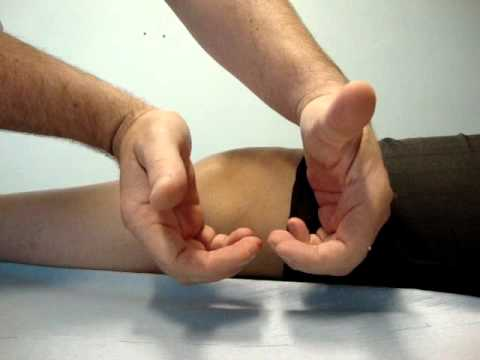Popliteal pulse palpation fingers and thumbs