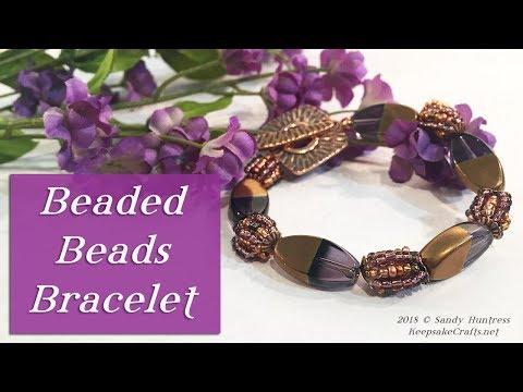 How To Make a Beaded Beads Bracelet-Bead & Jewelry Tutorial