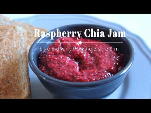 Raspberry Chia Jam Recipe - How to Make Raspberry Chia Seed Jam Recipe - No Sugar Added
