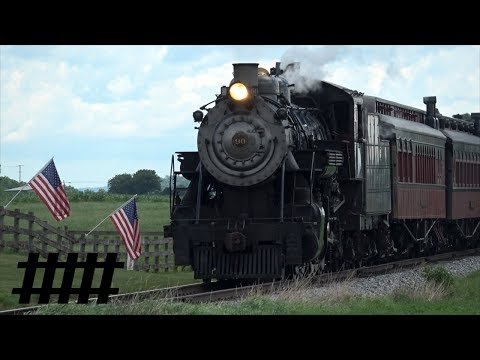 Strasburg Rail Road Steam Excursion Train with SRC 90 BLW 2-10-0 Steam Engine Part 1 of 2