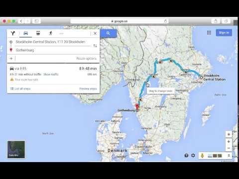 Change route in maps
