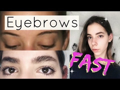 How to grow your eyebrows faster and thicker!
