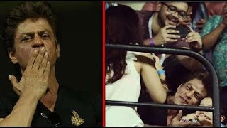 Shahrukh Khan Spotted Playing With Dhonis Daughter Ziva Ipl 2018