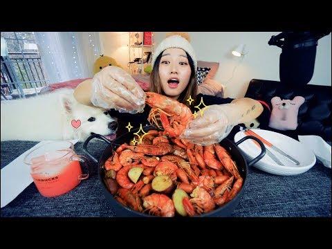 Extra Large Shrimpy Shrimp Boil Mukbang | KEEMI★