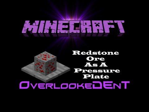 Redstone Ore As Pressure Plate - Minecraft Xbox 360/PS3 - [Tutorial]
