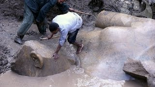 Pharaoh Ramses II statue unearthed in Cairo