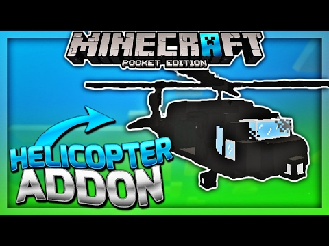 FLY HELICOPTER IN MCPE 1.1 - Minecraft PE 1.1 Black Hawk Addon - ( Minecraft Pocket Edition )