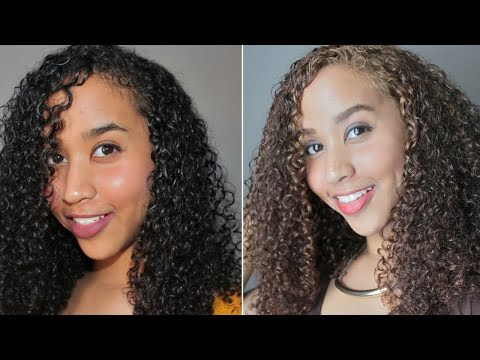 Black to HONEY Brown Hair - Dying Curls Without Bleach (PART 1)