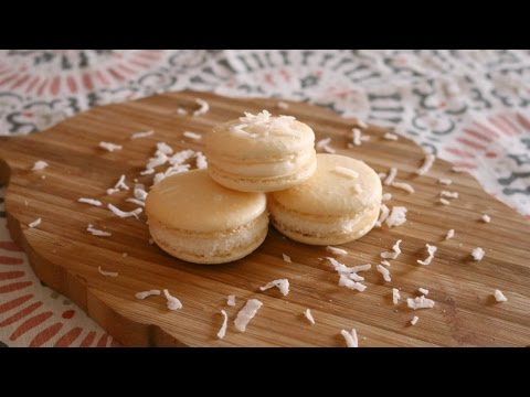 How to Make Coconut French Macarons NO ALMOND FLOUR | sweetco0kiepie