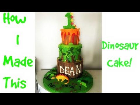 How I Made This Dinosaur Cake!