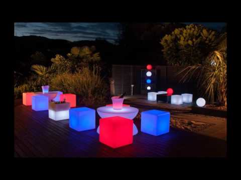 30cm 40cm cube plastic LED glow cube lighting cube chair seat