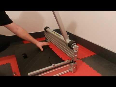 Skirting boards made of Fortelock PVC floor tiles