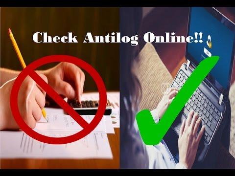 Online Antilog Checker