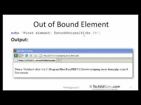 PHP Beginner 5 - Arrays