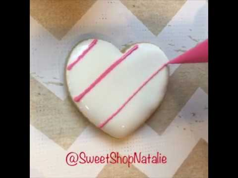 How to make marbled royal icing heart cookies!