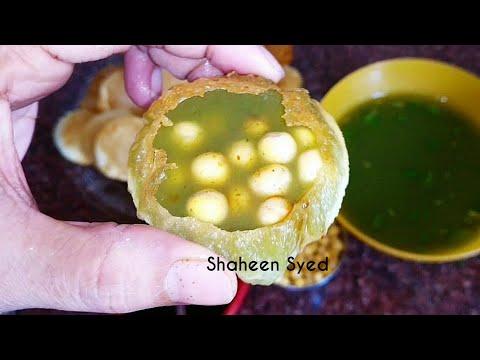 Pani Puri (Sooji Golgappa and spicy tangy pani at home )   Gol Gappa Recipe   Puchkas At Home