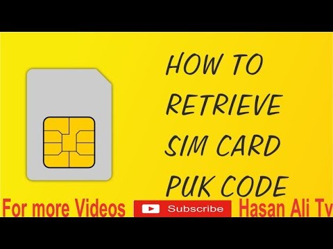 How to find pin & puk code of any sim